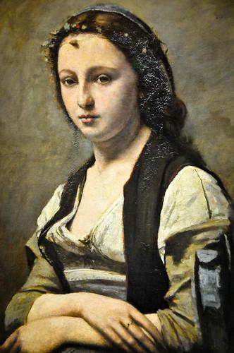 Camille Corot - La Femme a la perle, 1870 at Louvre Museum Paris France