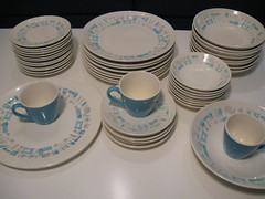 Blue Heaven jackpot! (elevator_lady) Tags: china cup dinner vintage bread dessert soup berry royal plate bowl vegetable retro cups butter plates bb bowls platter serving saucer saucers dinnerware blueheaven cakeplate