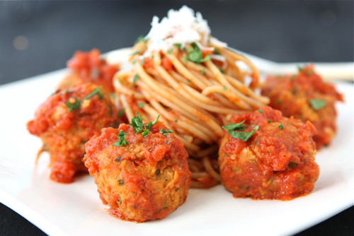 "Cannellini Bean Vegetarian ""Meatballs"" with Tomato Sauce Recipe...244 calories and 6 Weight Watchers PP 