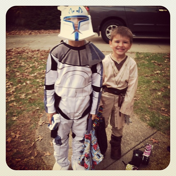 Captain Rex and Obi Wan