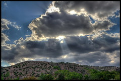 Sun rays (Mike G. K.) Tags: trees sun house mountains clouds nikon hill cyprus rays hdr photomatix agiaanna 3exp αγίαάννα d5100 mikegk:gettyimages=submitted staintanna