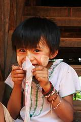 Local girl in a traditional village in the area around Kyaukme, Myanmar / Burma (sensaos) Tags: travel portrait people girl face asia child state burma tribal myanmar shan tribe eastern birma indigenous azie famke azi palaung 2011 veenstra kyaukme sensaos