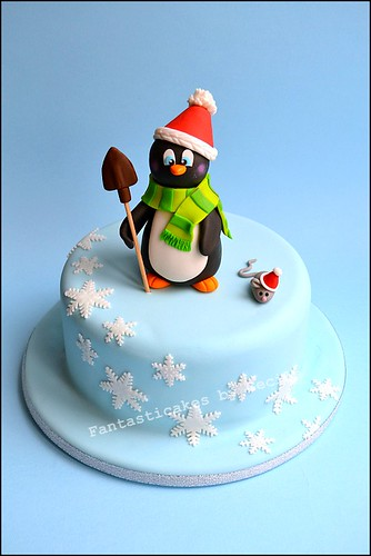 Christmas Penguin Cake