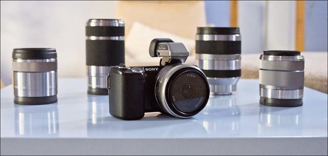 Sony NEX-5n 16mm, 30mm, 18-55mm, 55-210mm and 18-200mm lenses