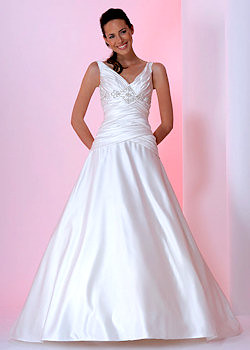elegant a line wedding dresses