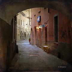 These romantic street corners ... (MargoLuc) Tags: street italy texture alley romantic aosta theworldwelivein platinumheartaward magicunicornverybest magicunicornmasterpiece sincityexcellence margoluc