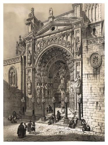 016-Puerta de los Leones catedral de Toledo-España artística y monumental..Tomo II- 1842-1850-Genaro Perez de Villa-Amil