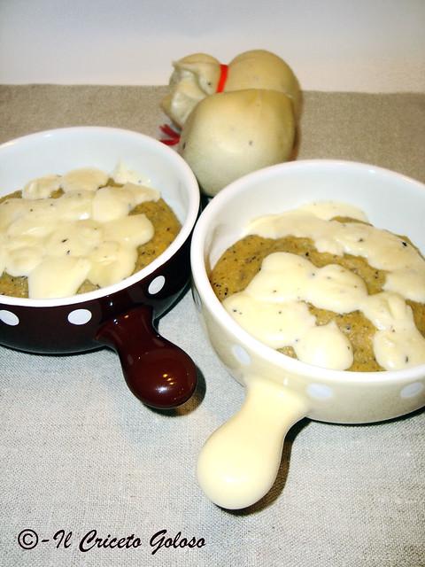 Cocottine di taragna e scamorza al tartufo