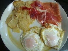 Huevos fritos con Jamón