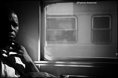 pasajero de la noche (packer105) Tags: portrait bw portugal train tren trenes monocromo retrato bn oporto pasajero packer105 solosysolas lacaradelosotros