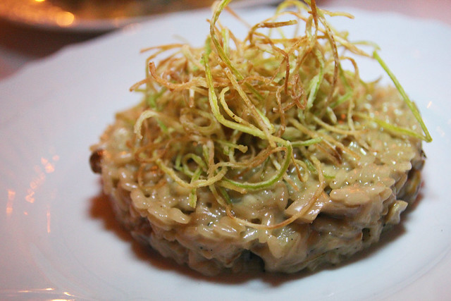 Risotto with porcini mushrooms and toasted leeks by Caroline on Crack