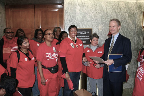 Nurses petition Senate FInance