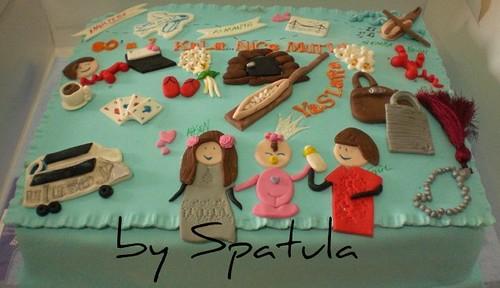 60 a 1 kala Doğum Günü Pastası by Demetin spatulasi