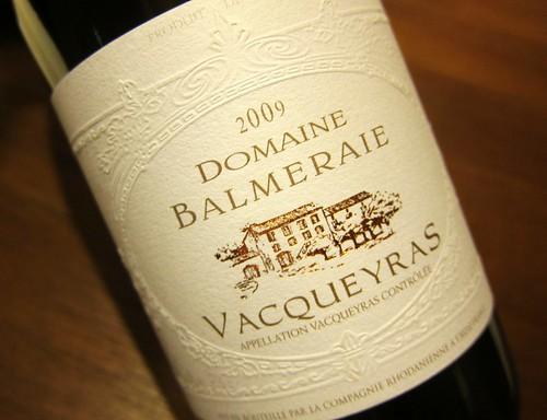 2009 Vacqueyras La Balmeraie
