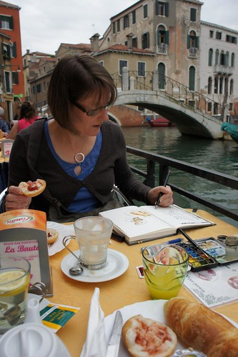 Venice Breakfast by borromini bear