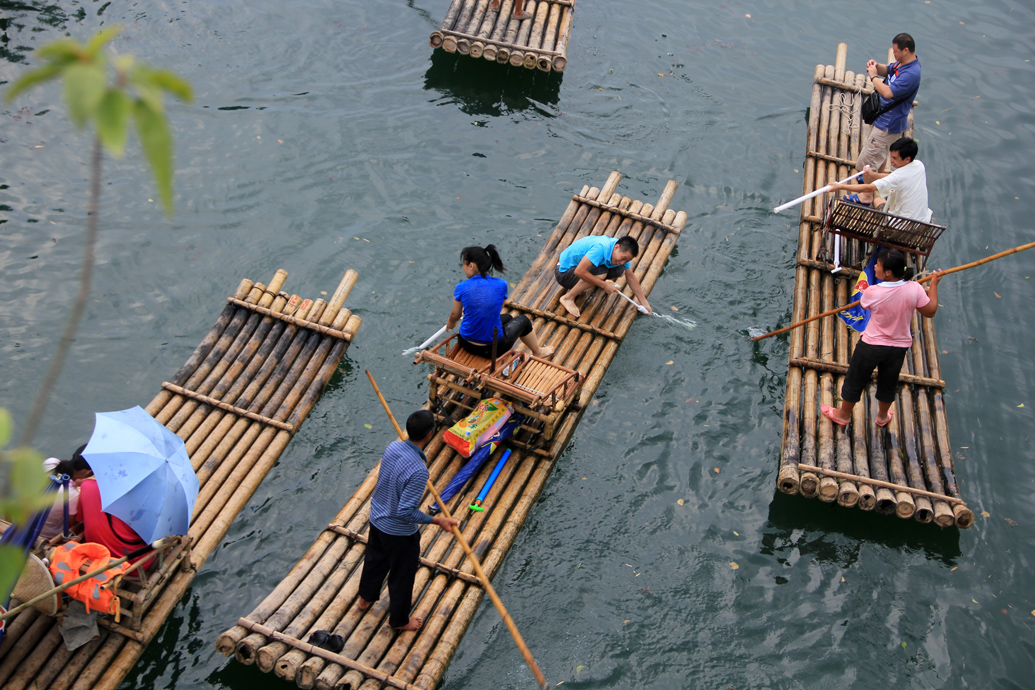 Bamboo Raft in Yangshuo, China