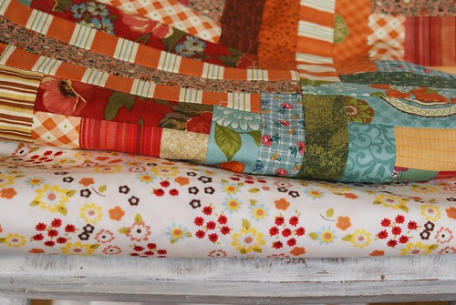 found fabric for my autumn log cabin quilt