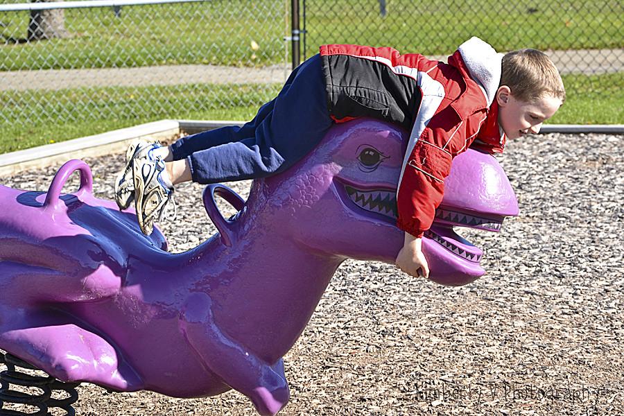 Alex at playground