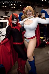 Batwoman and Power Girl (BelleChere) Tags: comics dc costume cosplay friday marvel comiccon powergirl nycc msmarvel