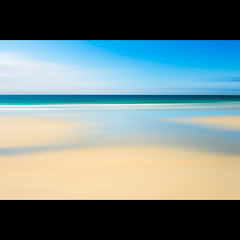 a simple beach (PMMPhoto) Tags: ocean blue sea sky abstract green beach water yellow clouds gold scotland sand nikon surf nikkor tiree 2470mmf28 d700 noticm