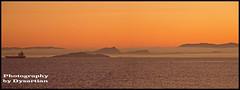 Misty Edinburgh Just After Sunset (Dysartian) Tags: sunset sea panorama mist scotland boat edinburgh edinburghcastle vista caltonhill arthursseat lothian salisburycrags fifecoastalpath inchkeithis