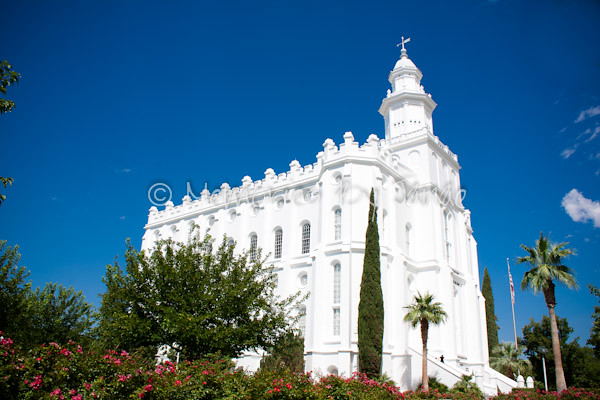 St. George Vintage LDS Temple Prints -9342