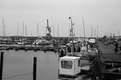 Boats in Hoganas harbour (Jimmy Svensson) Tags: autumn bw fall boat sweden skane batar hoganas bat haganashamn