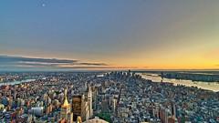 New York (zhiehl) Tags: sunset newyork landscape atardecer nikon hdr highdynamicrange panormica d300s