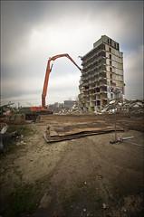 Dying Giant (Rense Haveman) Tags: street city urban home demolition ede flatbuilding pentaxk5