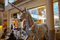 Unicorn (austrianpsycho) Tags: people leute menschen horn unicorn einhorn säulen pasching einkaufszentrum marcusplatz pluscity