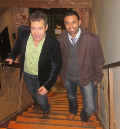 climb stairs to The Cannery, Rob Campbell and Ameet Wadhwani