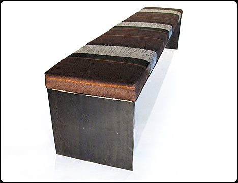 Bun Warmer Metal Bench