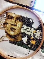 Kick-Ass WIP Back (stitchFIGHT) Tags: crossstitch cross embroidery wip marvel kickass xstitch