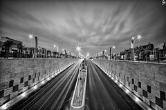 King Abdullah Rd B/W |    (Abdulkreem Al-delaigan | ) Tags: longexposure bw apple canon photography flickr cityscape riyadh   2011  canonef1635mmf28lusm blackwhitephotos  leefilters canon5dmark|| abdulkreemaldelaigan   abdulkreem aldelaigan kingabdullahrd
