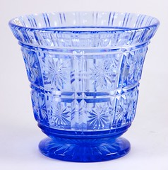 33. English Cut Glass Table Vase