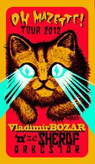Oh Mazette Tour 2012 (arnus horribilis) Tags: cat screenprint silkscreen vladimir bozar sympa