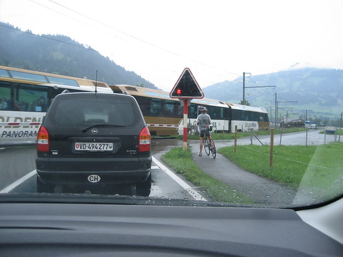 Waiting at a Swiss level crossing