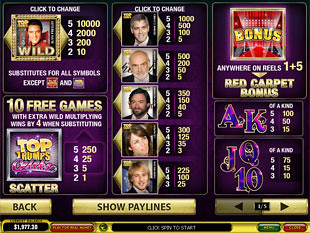 free Top Trumps Celebs slot mini symbol