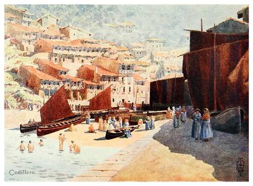 23-Puerto de Cudillero-Northern Spain painted and described-1906- Edgar Thomas Ainger