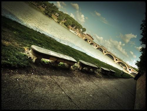 Les bateaux ont laissés place aux bancs