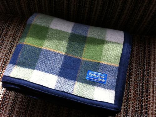 Handmade Pendleton lap blanket