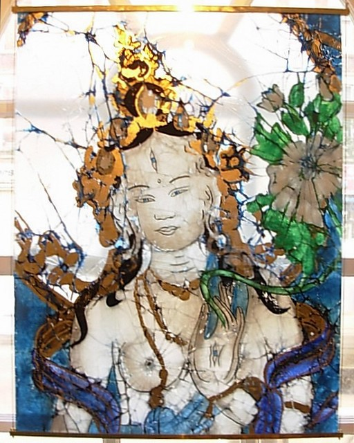 North London Buddhist Centre stained glass  Bodhisattva figure