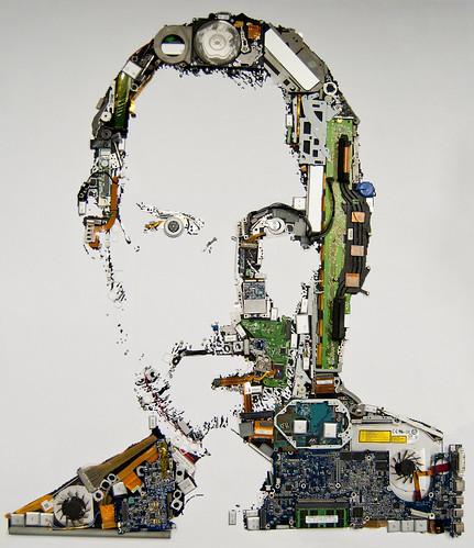 Steve Jobs Made of Mac Parts