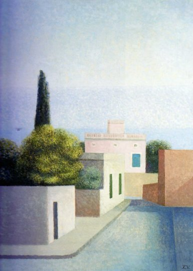 La villa rosa 1966 OLienzo 92 x 73