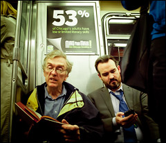 53% of Chicago adults? (TheeErin) Tags: travel chicago men make smart sign retail train subway reading glasses book illinois cta phone mark duo tie books el smartphone your transit commute irony data l commuting statistics 53 bookmark consumerist literacy ability iphone windbreaker chicagotransitauthority consumers understand homeward advocacy rudimentary makeyourmark litfest statistical ridership statisticalliteracy abilitytounderstand