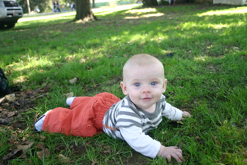 """Crawling"" in the grass"