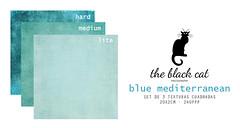 TBCP  BLUE MEDITERRANEAN MiniTextureSet (The Black Cat Photography) Tags: texture overlay squared softlight multiply bluemediterranean textureset tbcp texturascuadradas