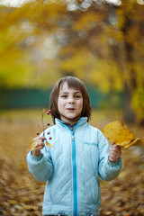 Dema and autumn leaves (savchik) Tags: family sons dema helios402 8515 2011 canoneos5dmarkii alexeysavchik