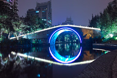 (pangzihu) Tags: bridge light night sigma hangzhou     dp1   dp1s