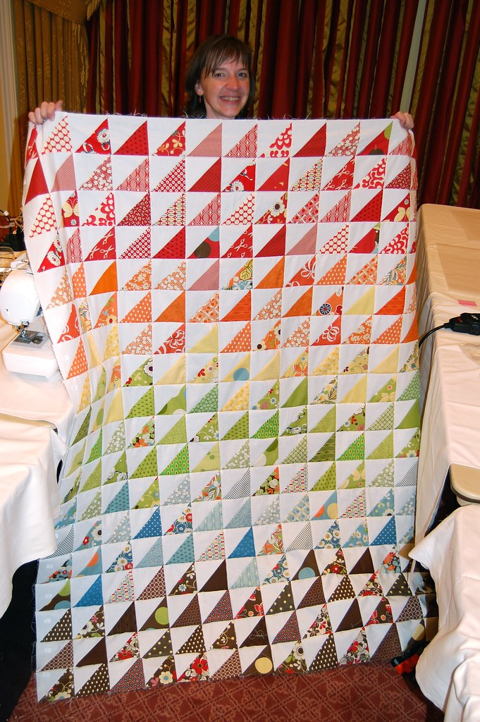 Amy's awesome HST quilt top